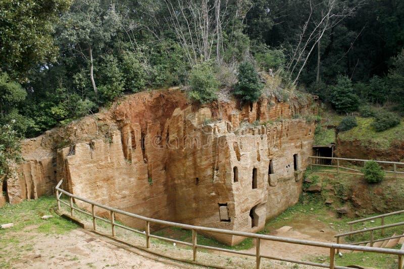 etruscan populonia νεκρόπολη σπηλιών στοκ εικόνα με δικαίωμα ελεύθερης χρήσης