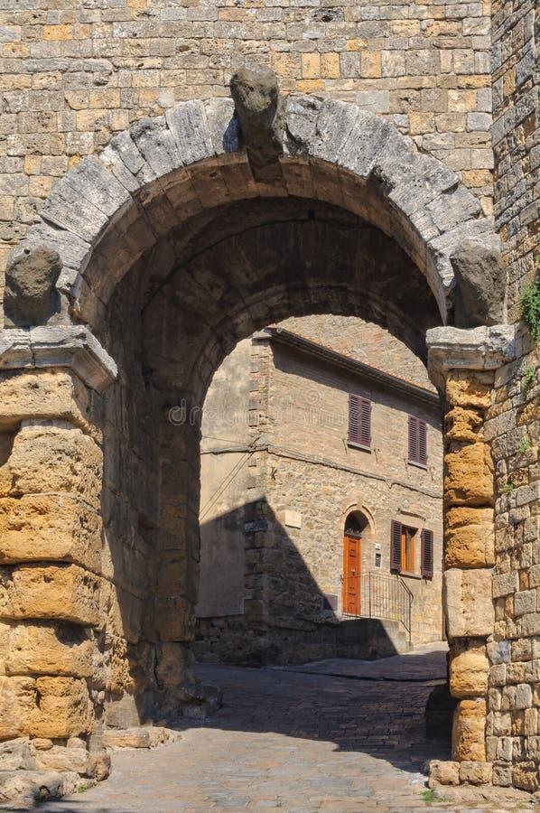 Etruscan Porta Arco - Volterra στοκ εικόνες