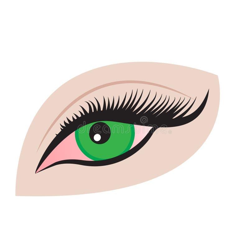 Ett öga vektor illustrationer
