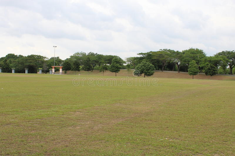 Ett öppet område i en parkera royaltyfri foto