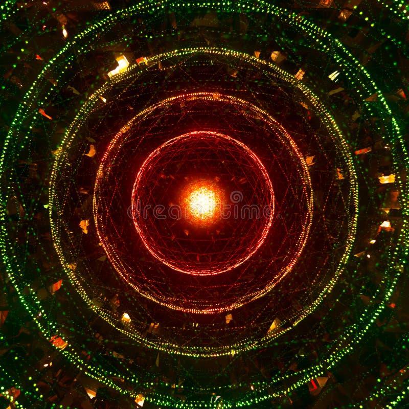 Ett abstrakt fotografi av ljusa kulöra cirklar royaltyfria foton