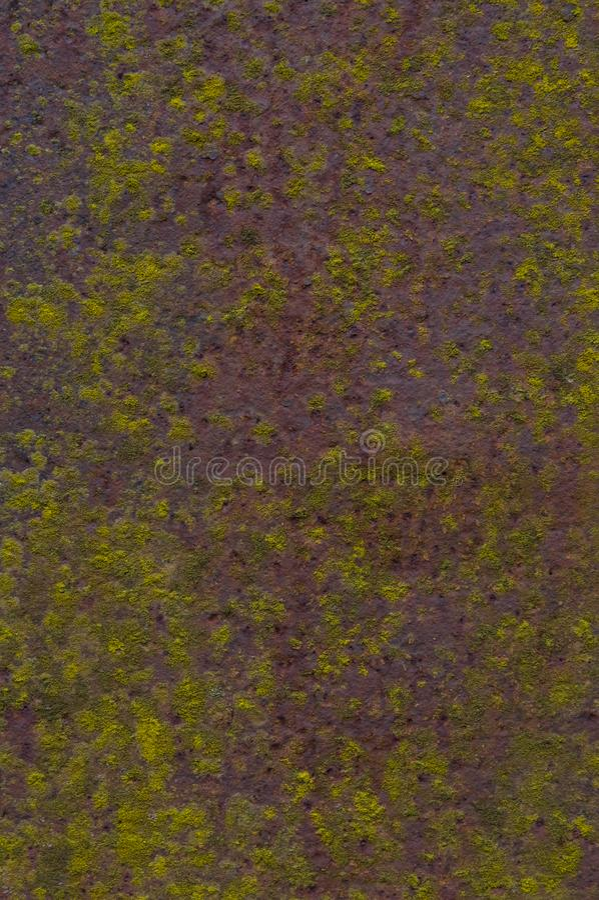 Ett ark av rostig metall med formen royaltyfria foton