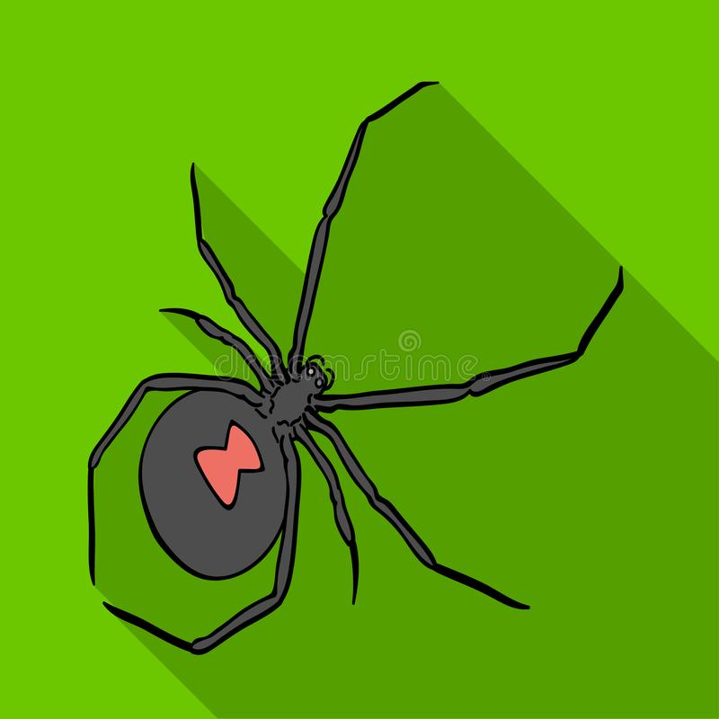 Ett arthropodfel är ett kryp En spindel, en enkel symbol för rov- kryp i det isometriska plana materielet för stilvektorsymbol vektor illustrationer