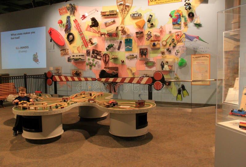 Ett av många lekområden för barn, det starka museet, Rochester, New York, 2017 royaltyfri fotografi