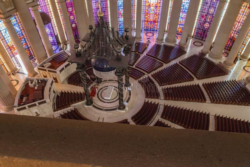 Ett avsnitt av skeppet av basilikan av vår dam av fred royaltyfria foton