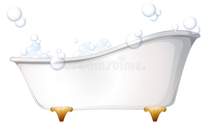 Ett badkar stock illustrationer