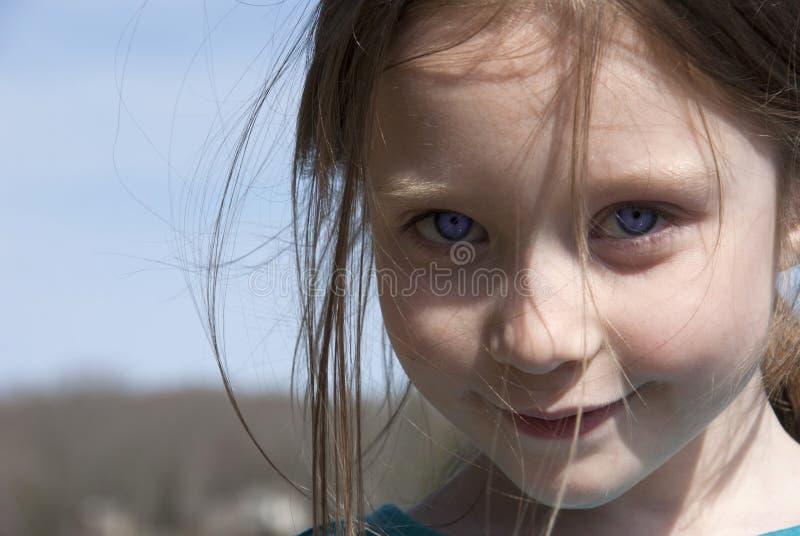 Ett barns framsida royaltyfria bilder