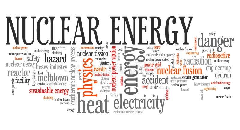 Ett begrepp av förnybar grön energi: en tusensköna och ett gräs över symbolet av bruten kärnkraft royaltyfri illustrationer
