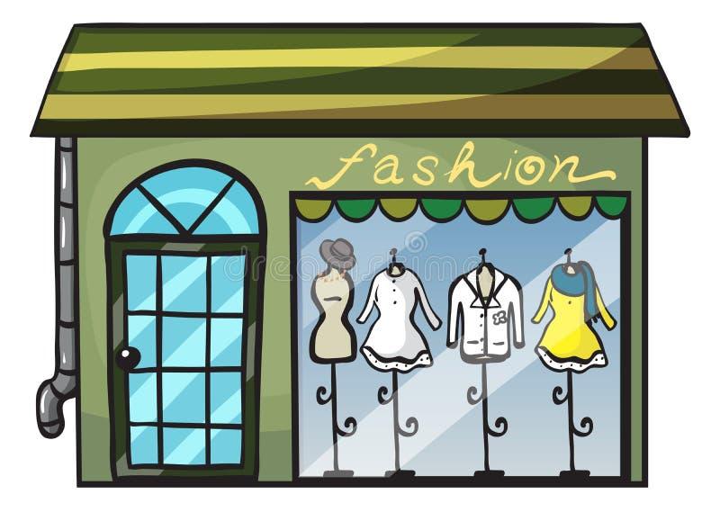 Ett bekläda lager royaltyfri illustrationer
