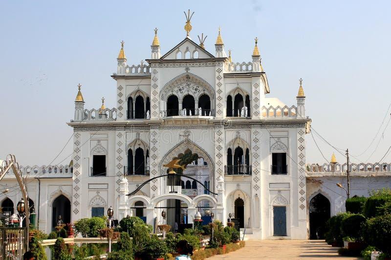 Ett besök till Lucknow, staden av Nawabs som har rika arvbyggnader och också moderna strukturer arkivfoton