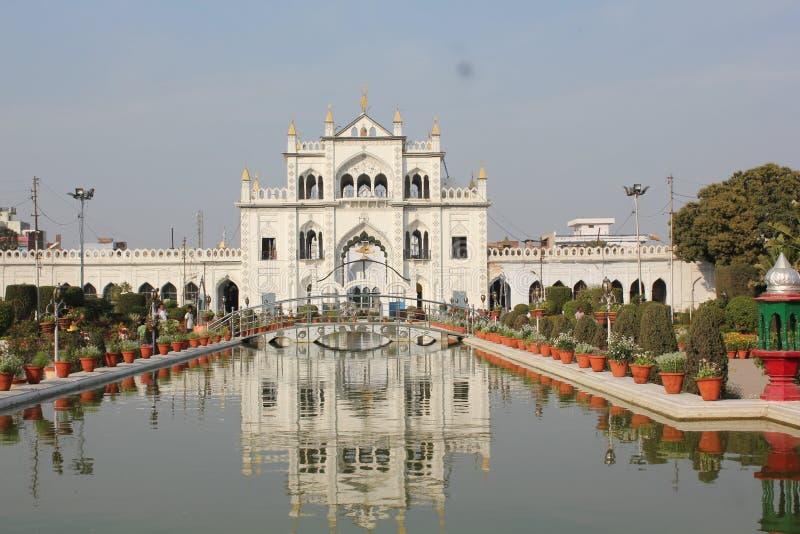 Ett besök till Lucknow, staden av Nawabs som har rika arvbyggnader och också moderna strukturer royaltyfri foto
