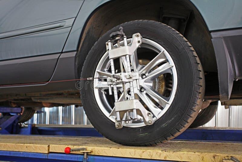 Ett bilreparationsgarage arkivfoton