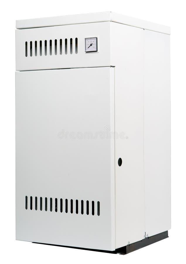 Ett bostads- gasar värmeapparaten som isoleras arkivfoton