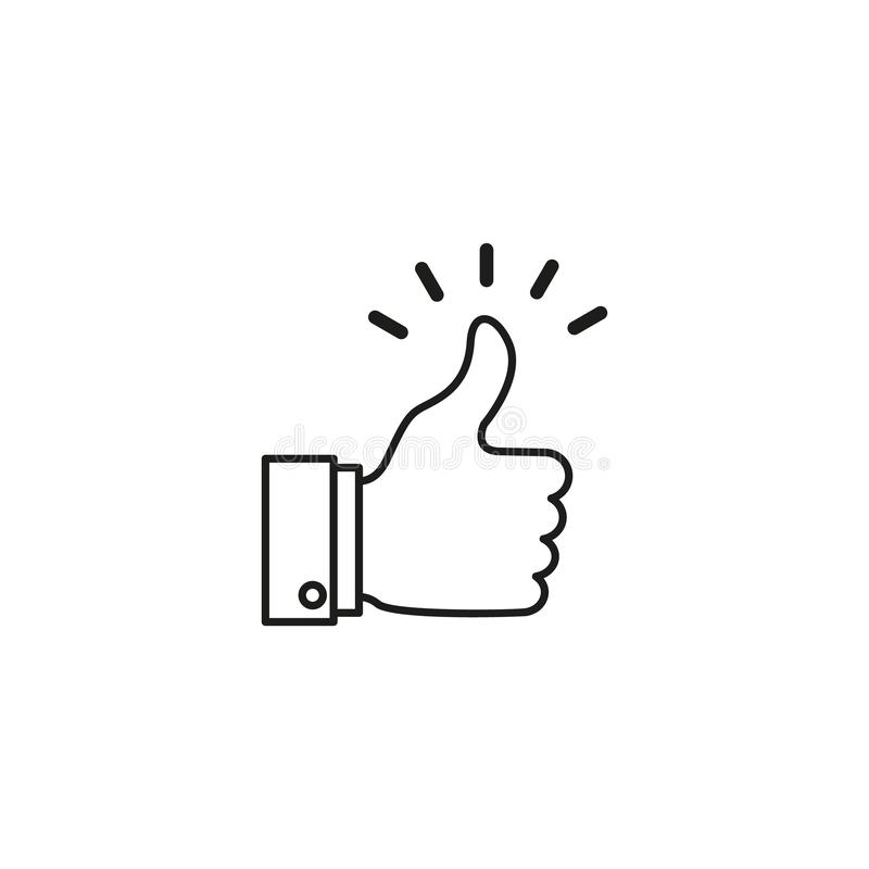 Ett bra, som nyheterna, arbetar, instämmer, bekräftar symbolen vektor illustrationer
