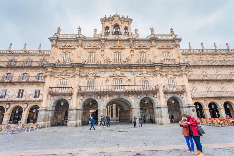 Ett centralt ställe i staden, Plazaborgmästaren royaltyfri bild