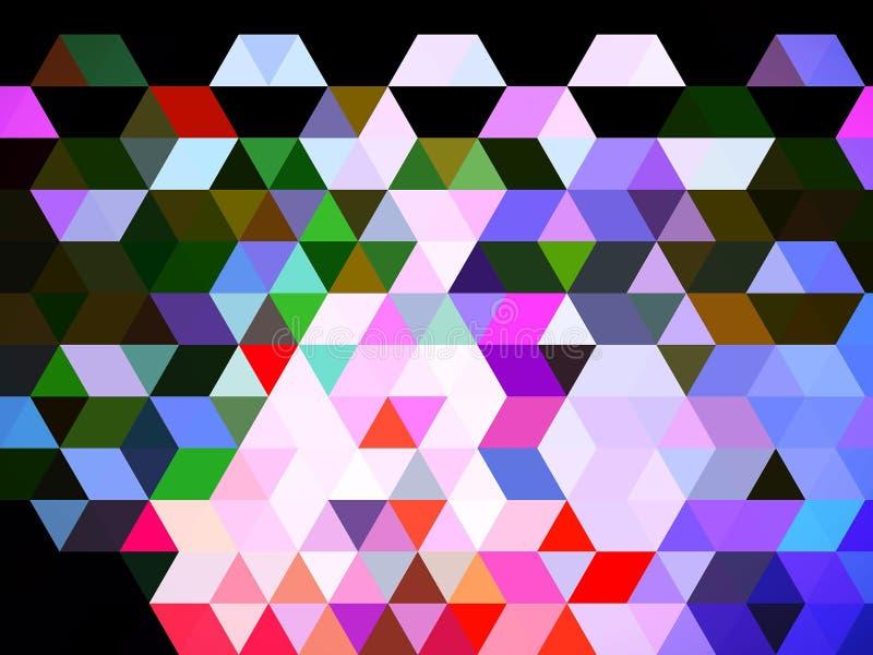 Ett dramatiskt glamoröst digitalt triangelmönster royaltyfri illustrationer