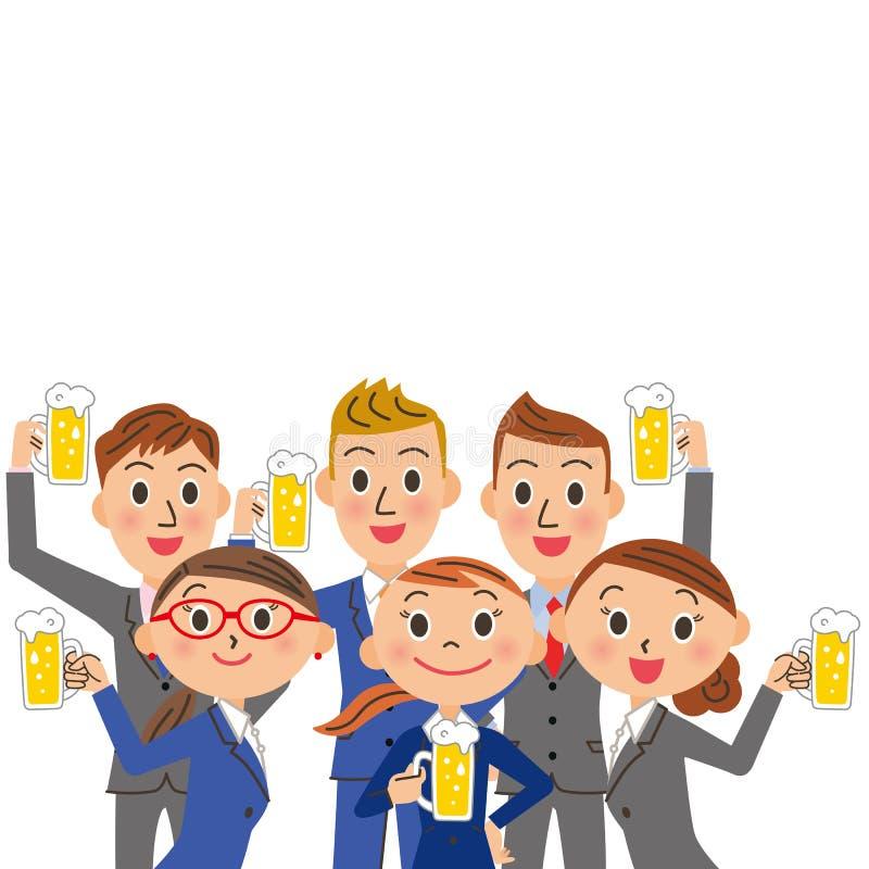 Ett dricka periods- och för kontorsarbetare möte vektor illustrationer