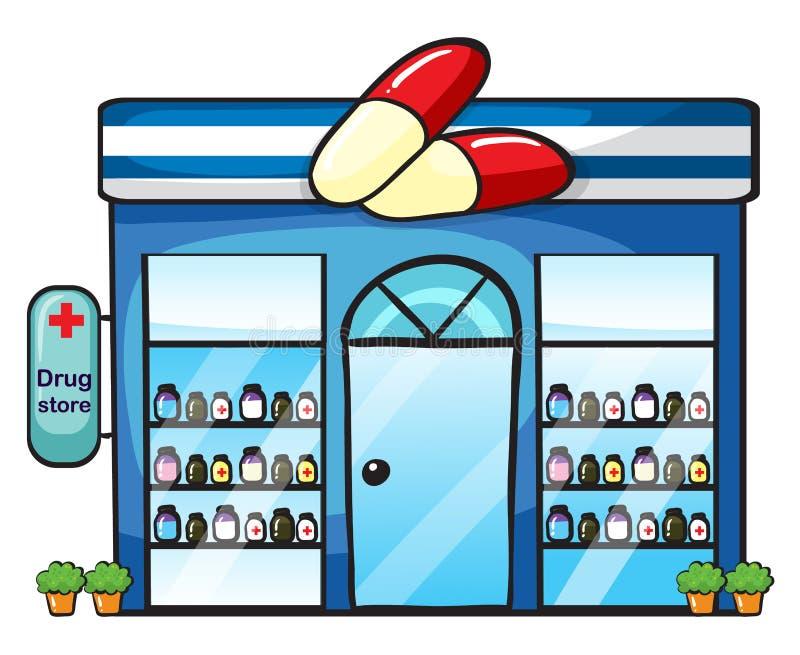 Ett droglager royaltyfri illustrationer