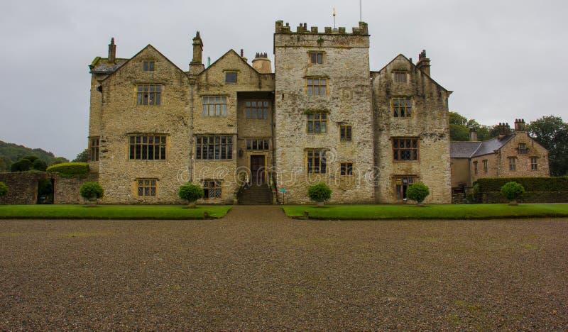 Ett elegant gods i den engelska bygden arkivbild