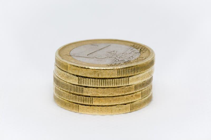 Ett euro myntar bunten fotografering för bildbyråer