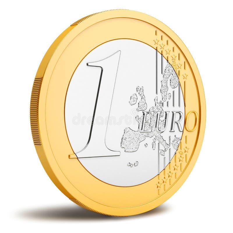 Ett euromynt royaltyfri illustrationer