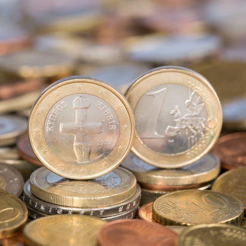 Ett euromynt Cypern royaltyfri foto