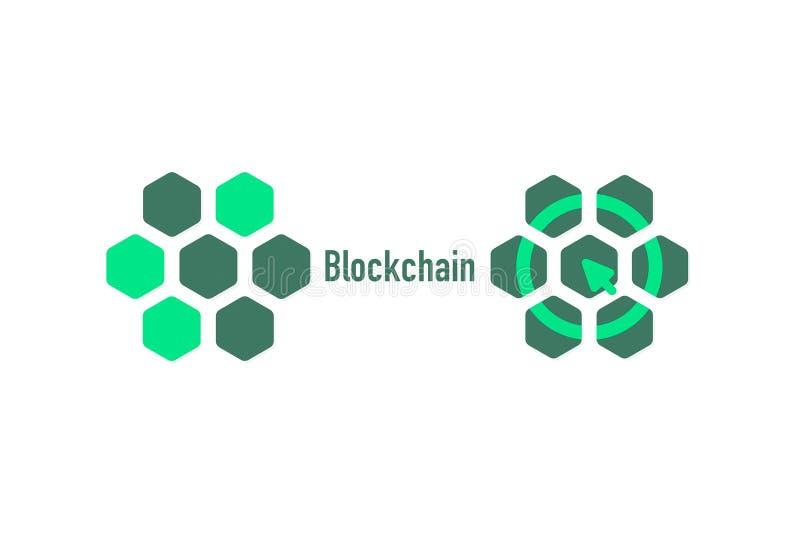 Ett exempel av växelverkanbitcoin på strömkretsen digital ekonomi Illustration av crypto valuta royaltyfri illustrationer
