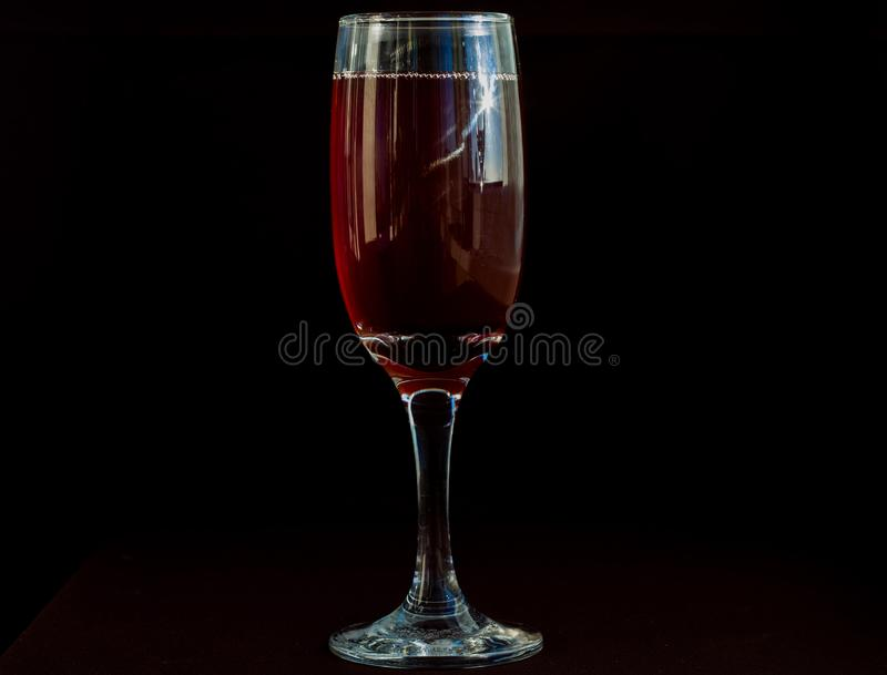 Ett exponeringsglas av rött vin fotografering för bildbyråer