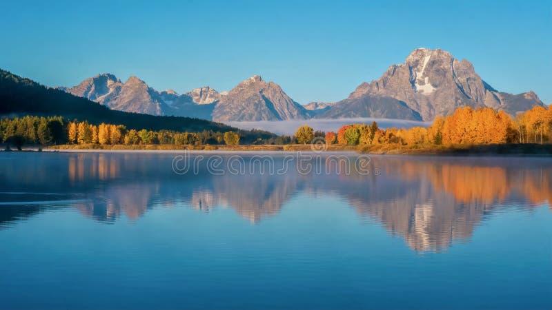 Ett fantastiskt höstlandskap i Grand Teton nationalpark, Wyoming arkivfoton