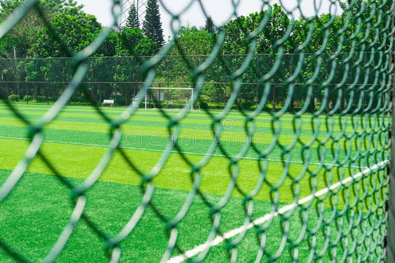 Ett fotbollfält royaltyfri bild