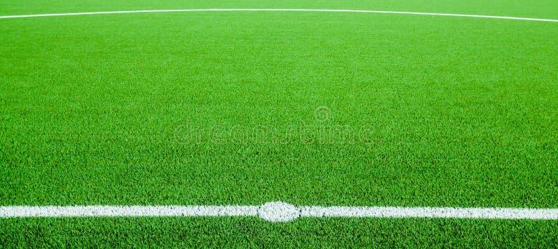 Ett fotbollfält arkivbilder