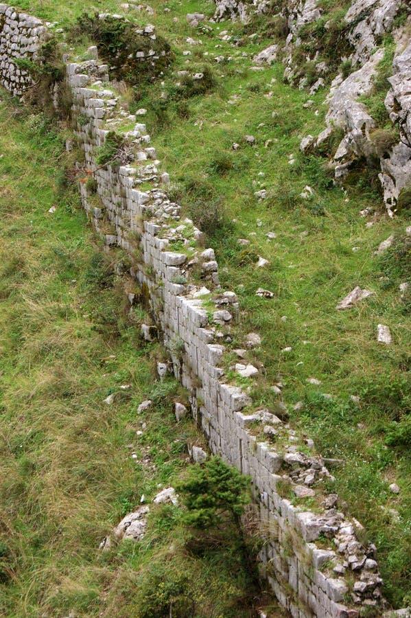 Ett fragment av befästningarna fotografering för bildbyråer