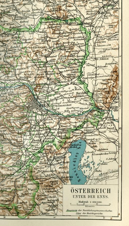 Ett fragment av en gammal översikt av Centraleuropa, östlig Tyskland stock illustrationer
