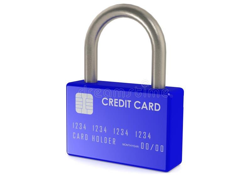 Kreditkorten låser royaltyfri illustrationer