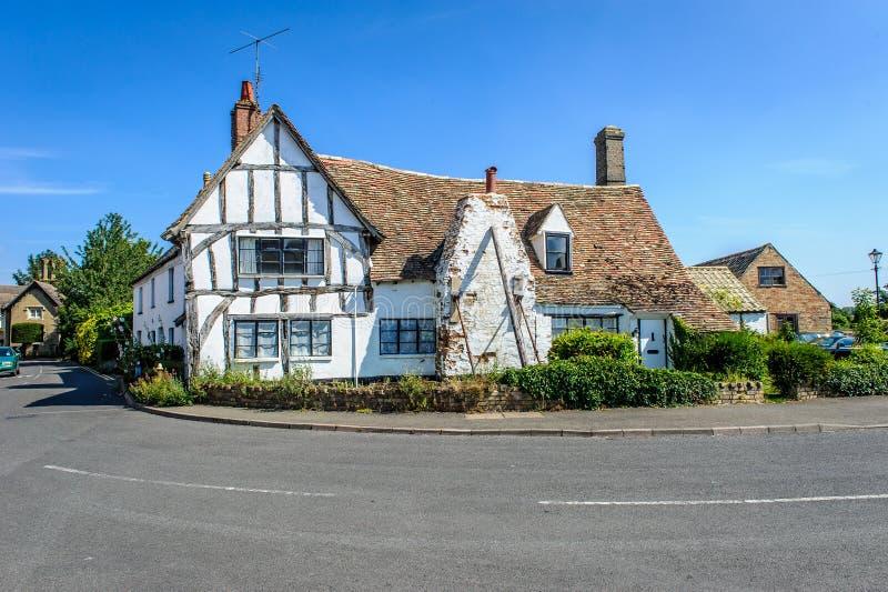Ett gammalt hus i houghton arkivbilder