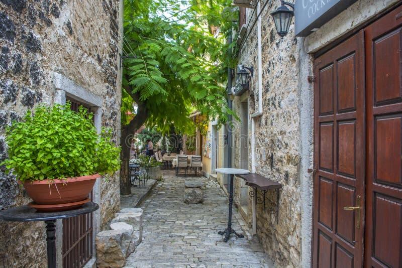 Ett gammalt hus i Porec Kroatien arkivbild