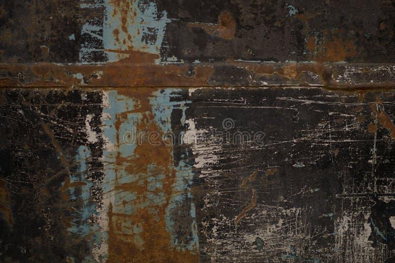 Ett gammalt målat svart järn royaltyfri bild