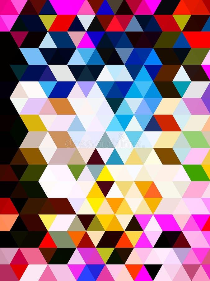 Ett glamoröst mönster för grafisk design av kvadrater royaltyfri illustrationer