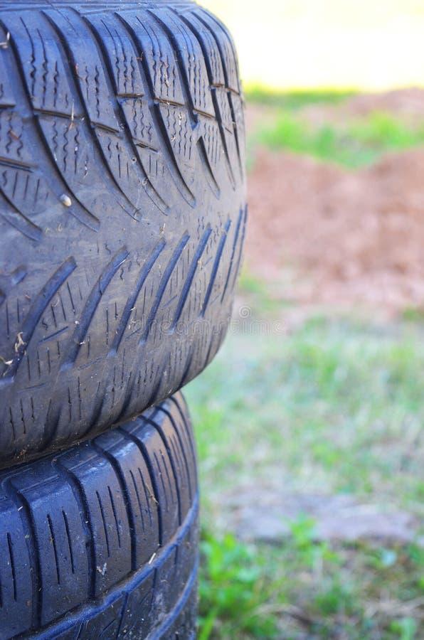 Ett gummihjul arkivfoto
