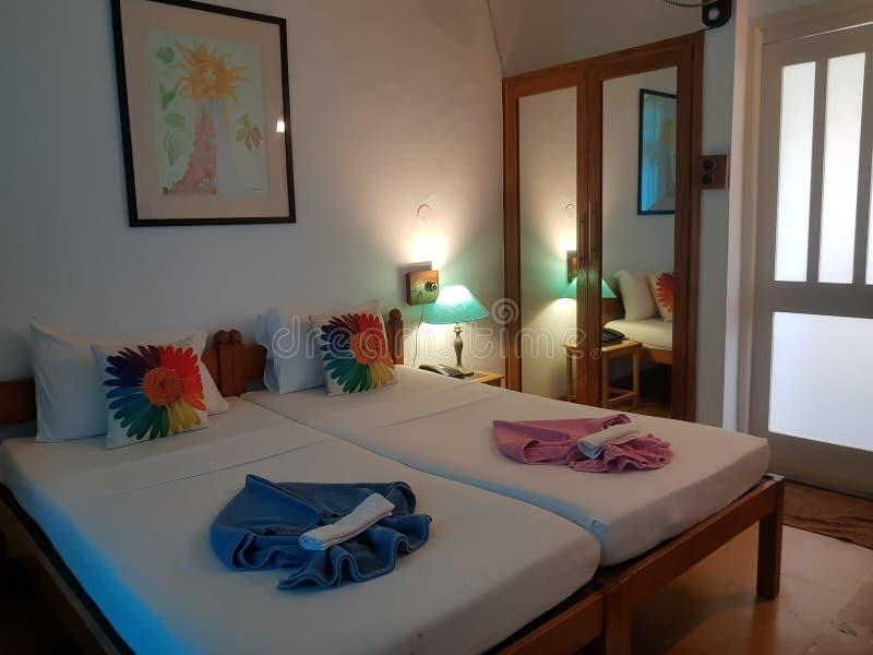 Ett härligt Goan hotellrum royaltyfri foto