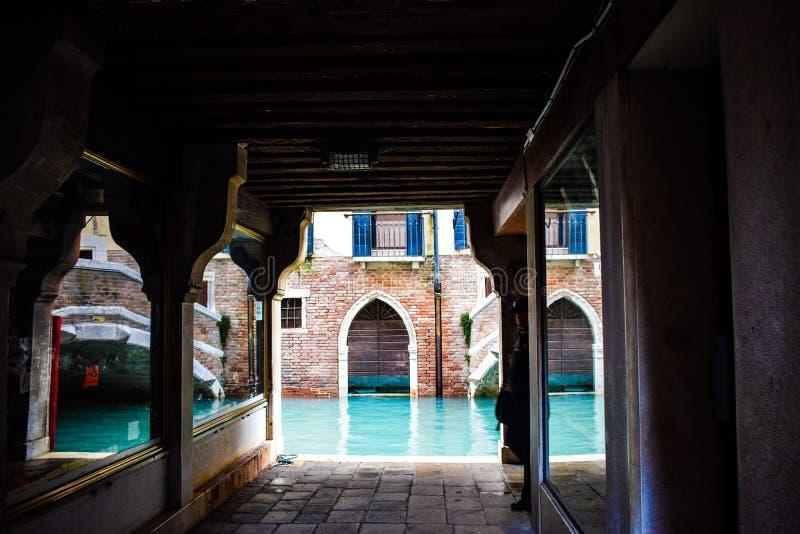 Ett härligt hörn av Venedig arkivbild