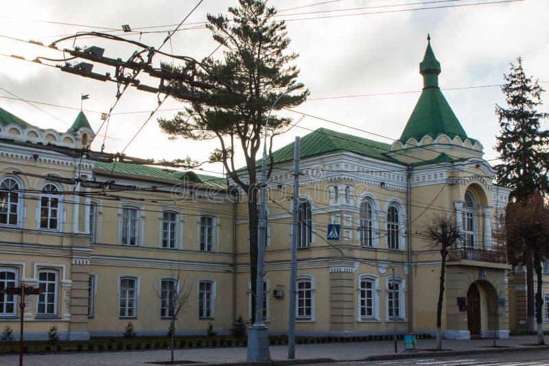 Ett härligt hus på gatan av Vinnytsia ukraine royaltyfri fotografi