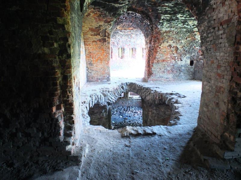 Ett hål i golvet i fästningen royaltyfri fotografi