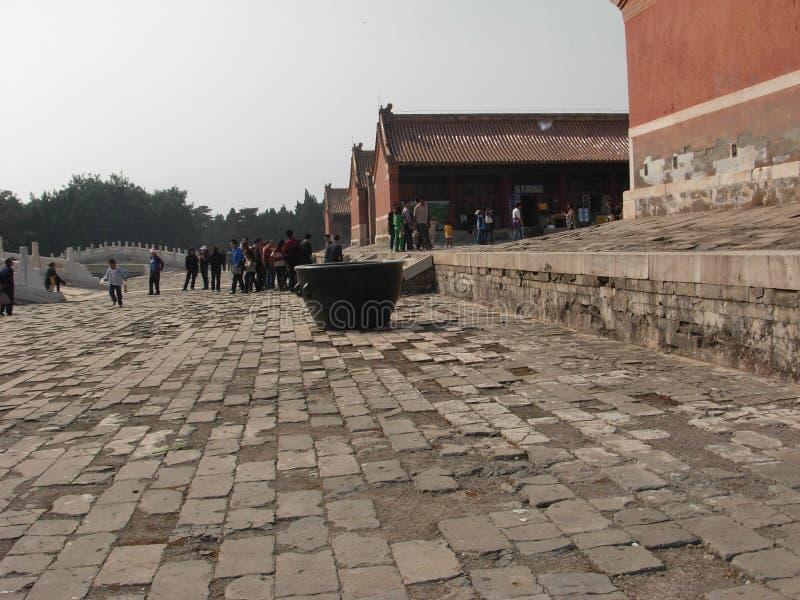 Ett hörn av de östliga gravvalven av den Qing dynastin royaltyfria bilder