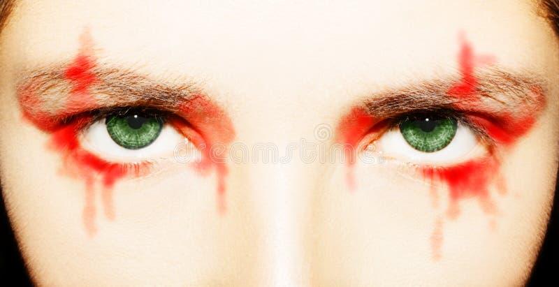 Ett h?rligt insiktsfullt blick?ga Slut som skjutas upp royaltyfri fotografi