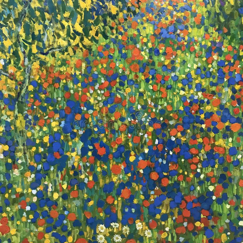 Ett herde- landskap som produceras av en Gustav Klimt arkivfoton