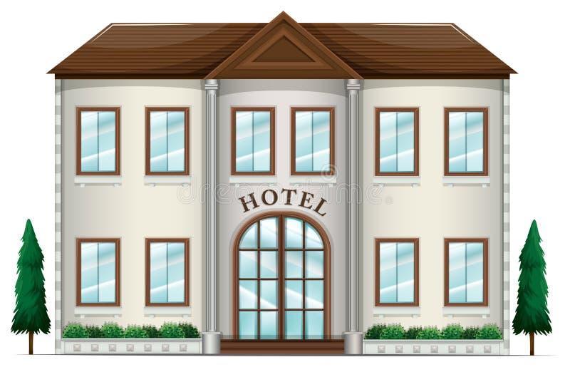 Ett hotell royaltyfri illustrationer