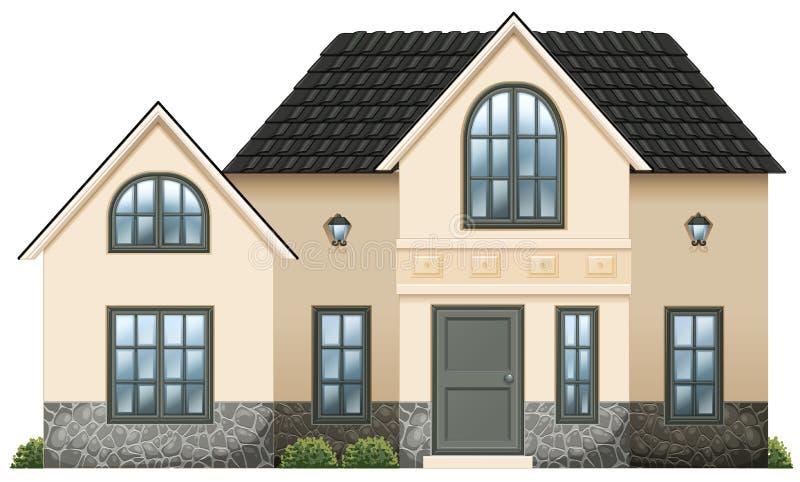 Ett hus vektor illustrationer