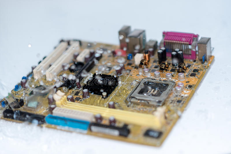 Ett huvudsakligt bräde för mainboard, CPU-moderkort, logikbräde, systembräde eller mobobräde royaltyfri foto