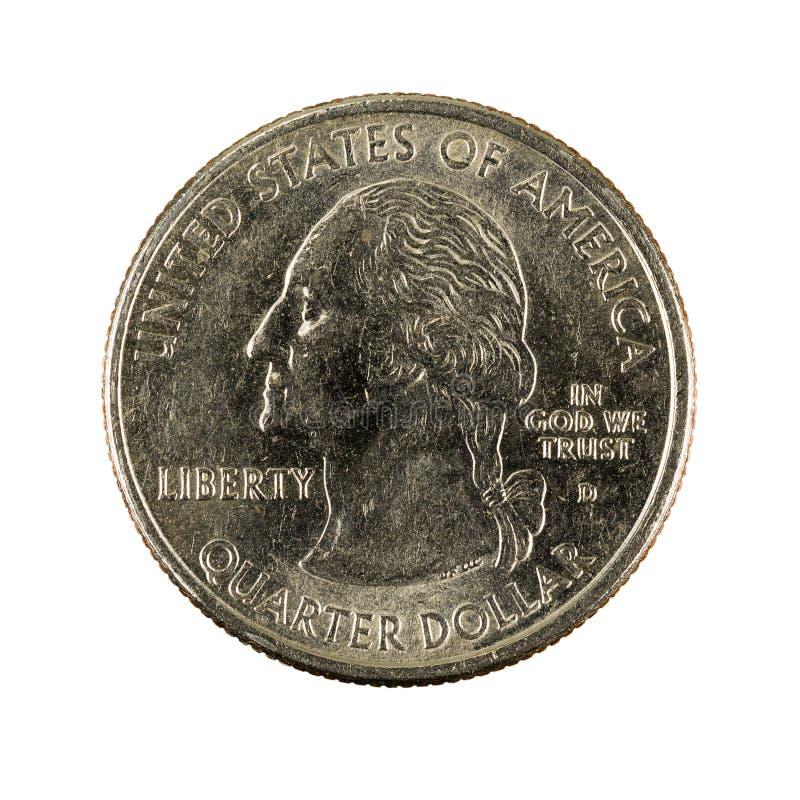 Ett isolerat mynt 2000 för Förenta staterna fjärdedeldollar royaltyfri foto